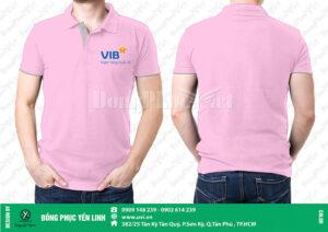 Áo thun quảng cáo màu hồng phấn