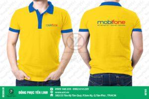 áo thun mobifone màu vàng